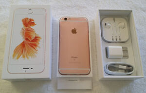 **iPhone *6s--64GB *ROGERS *MINT *ROSE GOLD *IN BOX *APPLE WRNTY