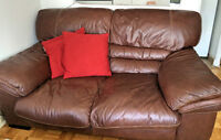 Leather couch (sofa)