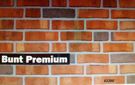Brick tiles Rustic Antique Bunt Premium, red/black/yellow-brown flamed ref 622NF Hand molding.