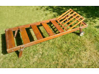 Vintage Style Solid Wood/ Mahogany Sun Lounger Cruise Liner Style