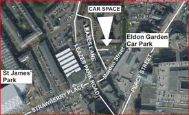 Secure Newcastle City Centre parking space yards from Eldon Garden, Hospital, Universities and work.