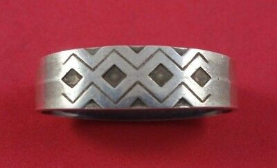 """Mayan by Georg Jensen Sterling Silver Napkin Ring Oval 1 7/8"""" x 1/2"""""""