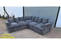 💦💦 NEW LIVERPOOL FULL FABRIC JUMBO CORDED 💦💦 CORNER SOFA AVAILABLE NOW IN STOC