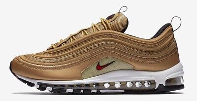Nike Air Max 97 Metallic Gold Women's RARE Size 5 885691-700 silver bullet wmns
