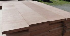 5 Pieces of NEW 25mm Premium Quality Marine Ply 4ft x 8½in (1220mm x 214mm)