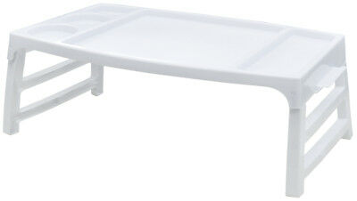 Folding Serving TV Tray Table for Snacks Food Breakfast in Bed at Home - White Plastic Serving Trays