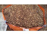 Woodchip bark (mulch wood chip)