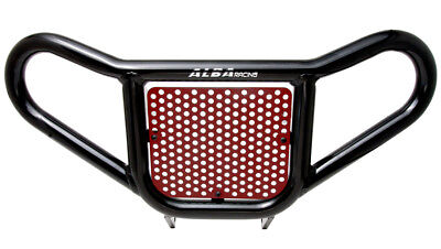 Yamaha Warrior 350   Front Bumper Red and Black Screen   Alba Racing  210 R2 BR