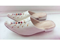 Child's genuine leather Moroccan shoes – Size 3. Worn once indoors!