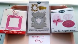 FOR SALE Sizzix Dies/heart/frame/ovals/sewing/card making/scrapbooking/crafting/home decor