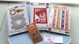 FOR SALE Sue Wilson/Sizzix/Justrite/Fizzy Moon/Dies/stamps/ card making/scrapbooking/crafting