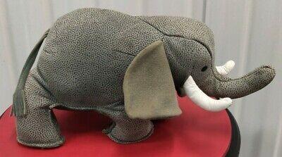 Sandy Vohr Leather Zoo Elephant Bookend/Doorstop