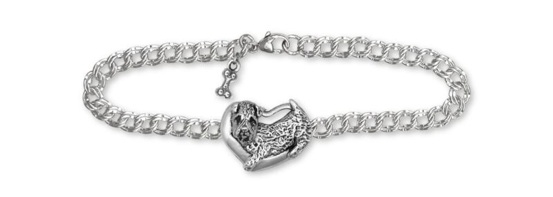 Soft Coated Wheaten Bracelet Jewelry Sterling Silver Handmade Dog Bracelet SC6-B