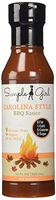 Simple Girl Carolina Style Sugar Free BBQ Sauce - Low Carb, Gluten Free