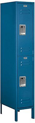 Salsbury Metal Locker Double Tier 1 Wide 5 High 18 Deep Blue 62158bl-u New