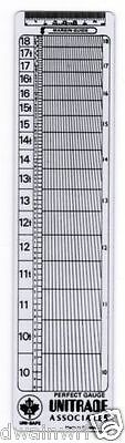 """Uni-safe """"Perfect Guage"""" Perforation Perf Gauge - NEW!"""