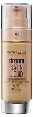 Maybelline Dream Satin Liquid Make-up Nr. 48 Sun Beige, für einen natürlich - Liquid Make-up