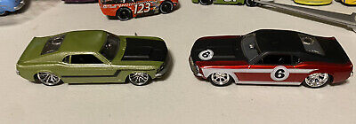 Hot Wheels G Machines 70 Mustang Lot Of 2 Maroon And Green