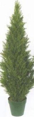 4' ARTIFICIAL UV TREE CYPRESS TOPIARY OUTDOOR CEDAR BUSH PINE 48