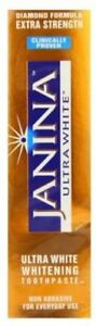 JANINA Ultra White Extra Strength Whitening Toothpaste LOW PRICE & FREE POST