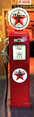NEW TEXACO STAR REPRODUCTION REPLICA GAS PUMP - RED ON ALL 4 SIDES - FREE SHIP*