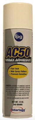 Intertape Ac50 Web Spray Construction Adhesive 12oz Can Free Shipping