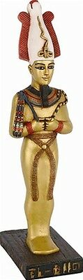 Osiris Egyptian Majestic Underworld God Wearing Crown Statue 9.5H E-318GP
