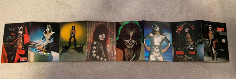 Kiss 1978 Photo Set Rare Intact Accordion Style. Gene Simmons. Ace Frehley. Solo