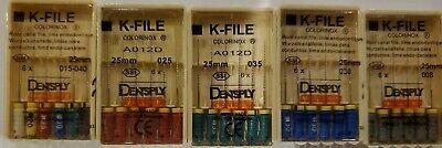 Dentsply Maillefer K-file Endodontic Dental Files 5 Packs Any Size 25 Mm