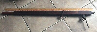 Vintage Primitive Style Barb Wire Fence Stretcher , Country Farm Rustic Tool