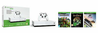 Microsoft Xbox One S All-Digital Edition Console with 3 Games Bundle - White