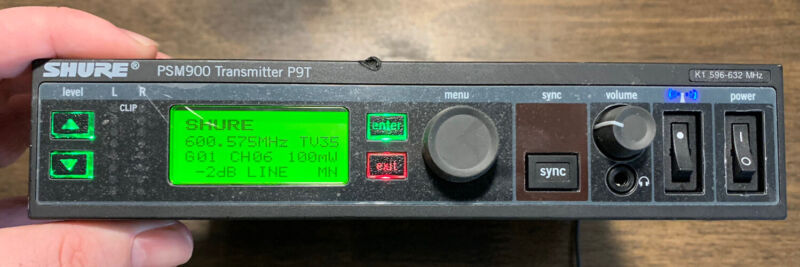 Shure PSM900 Wireless Stereo Transmitter P9T K1 Band 596-632 Unit Only