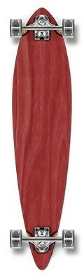 Yocaher Pintail Blank Longboard Complete - Stained Red
