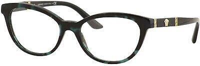 VERSACE VE3219Q 5076 Green Havana Demo Lens 54 mm Women's Eyeglasses