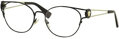 VERSACE VE1250 1009 Black Demo Lens 54 mm Women's Eyeglasses