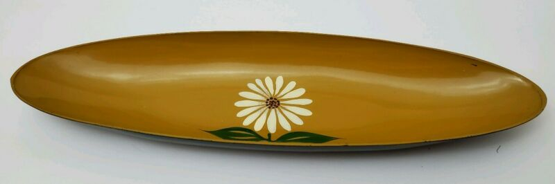 """Japanese LACQUER WARE Oval Tray - 16"""" Mid Century"""