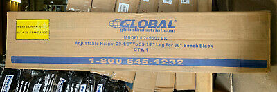 Adjustable Height 36 Inch Work Bench Legs Black A9
