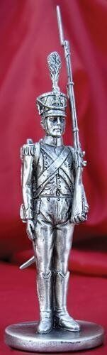 Silver Plated Pewter Soldier 3 Inches Tall (1597) NEW French Voltigeur Napoleon