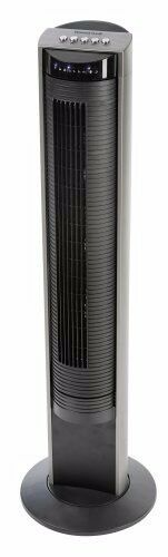 Honeywell HO-5500RE Oscillating Tower Fan with Remote Control and Gliding Grill Function - Black