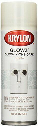 Krylon K03152007 Glowz Glow-in-The-Dark Paint, White, 6 Ounce