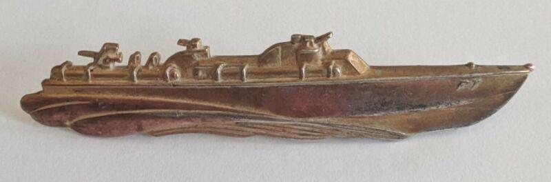 WW2 Elco Sterling US Navy PT Patrol Torpedo Boat Pin Badge