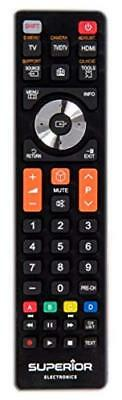 Superior Replacement Remote Control for Samsung Televisions & Smart Televisions