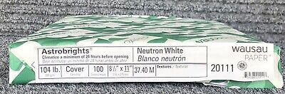 Wausau Astrobrights Cover Neutron White 104lb 8.5 X 11 200 Sheets