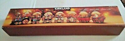 Vintage Kirkland Signature Mini Waterglobe Train Set 451919 Christmas Circus