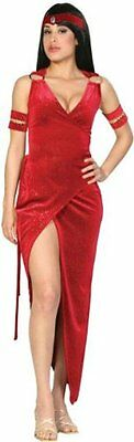 SEXY WOMEN RED CLEOPATRA Costume Egyptian Queen Fancy Dress Goddess New Small