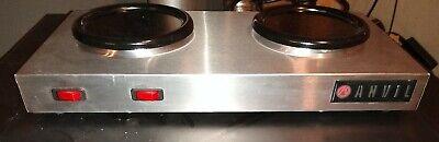 Anvil Vollrath Coffee Warmer 2 Plate 120 Volt. Commercial Restaurant