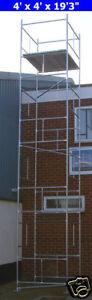 DIY Scaffold Tower 7.7m (4' x 4' x 25'3
