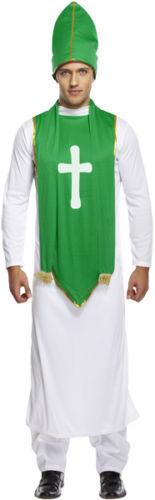 MENS ST PATRICK FANCY DRESS PARTY COSTUME IRISH VICAR BISHOP PRIEST U36 079