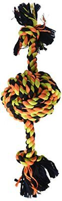 Flossy Chews Color Monkey Fist Ball with Rope Ends Large 18-Inch Mammoth Monkey Fist Rope