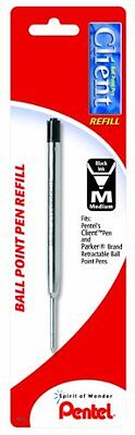 Pentel Bkc10 Client Ballpoint Pen Refill - Medium Point - Black - 1 Pack